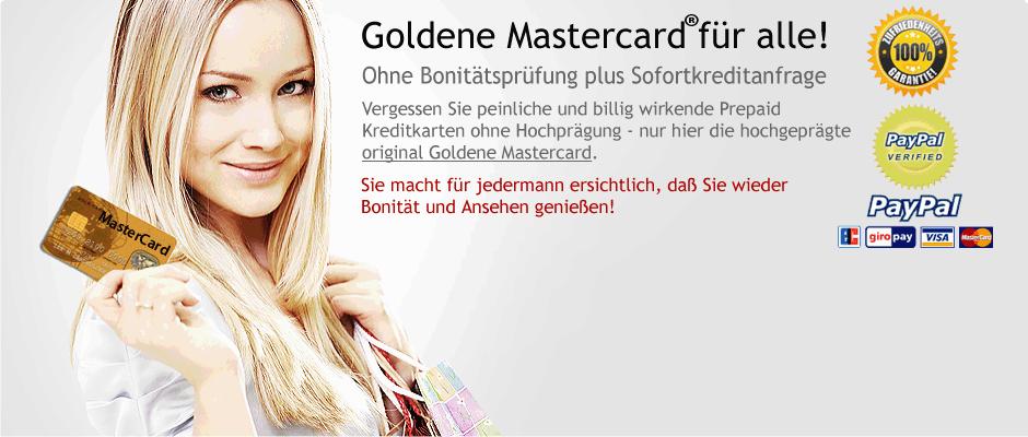 goldene Mastercard ohne Schufa | Kredite ohne Schufa | Gold MasterCards® - Platinum Card Services